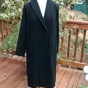 Jackets & Blazers - Black Cashmere Coat